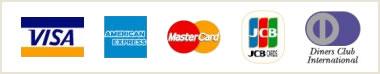 クレジットカードは下記5種類のカードがご利用いただけます。